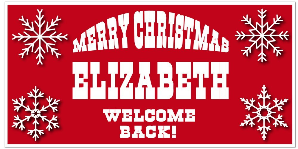 Merry Christmas Welcome Back Snowflake Personalized Banner Decoration