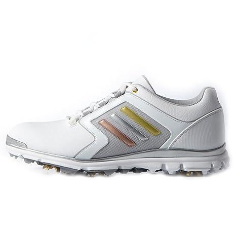 85e82a8cd17 Amazon.com  Adidas Adistar Tour Golf Shoes Ladies White Silver 5 ...