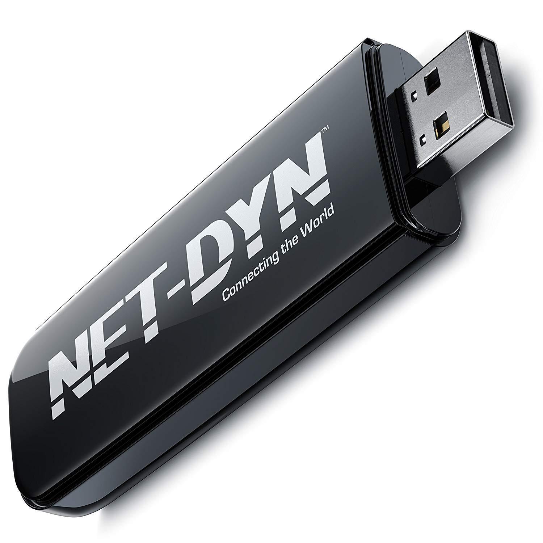 NET-DYN Adaptateur WiFi N USB Bi-Bande - 300Mbps Internet sans Fil - 5GHz + 2.4GHz 6450923