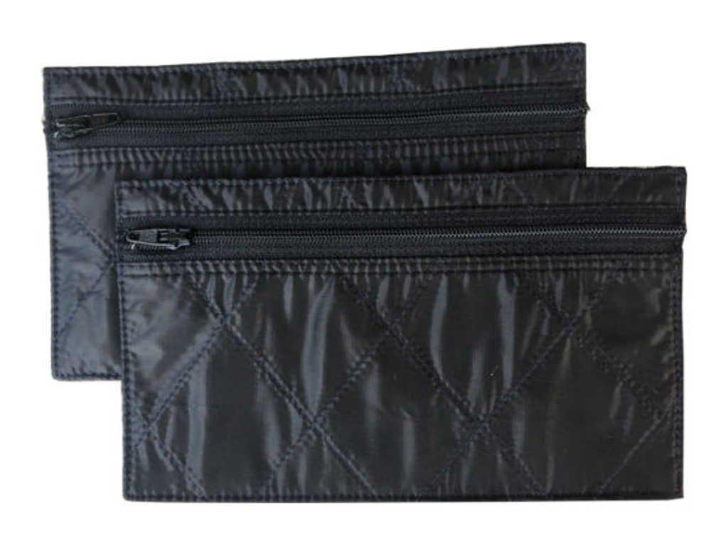Budgeting Envelopes 2-Pack Reusable Spending Allowance Cash Envelope System Nylon Organizer Bag Zippered Wallet Small, Cherry Red