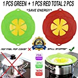 no boil over lid - Spill Stopper Lid Cover, Cookware Silicone Lids Boil Over Safe Guard 11'' 2 PCS UNIVERSAL