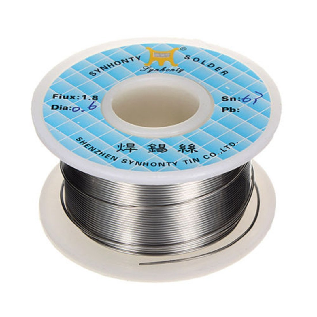 Rosin core solder wire - SYNHONTY 0.6mm 50G 65ft 63/37 Rosin Core ...