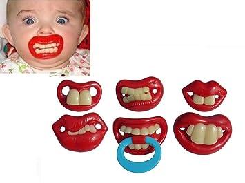 Cookids 2 unidades Cool Funny Fancy diseño de bebé/niños chupetes ...