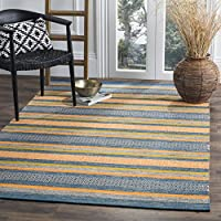 Safavieh Montauk Collection MTK213A Blue and Orange Area Rug (3 x 5)