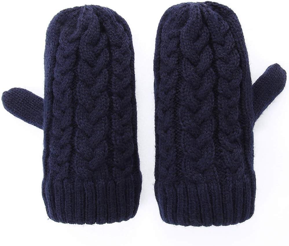 QKURT 3 paires de moufles pour tout-petits gants dhiver chauds doubl/és en polaire pour enfants de 0 /à 2 ans