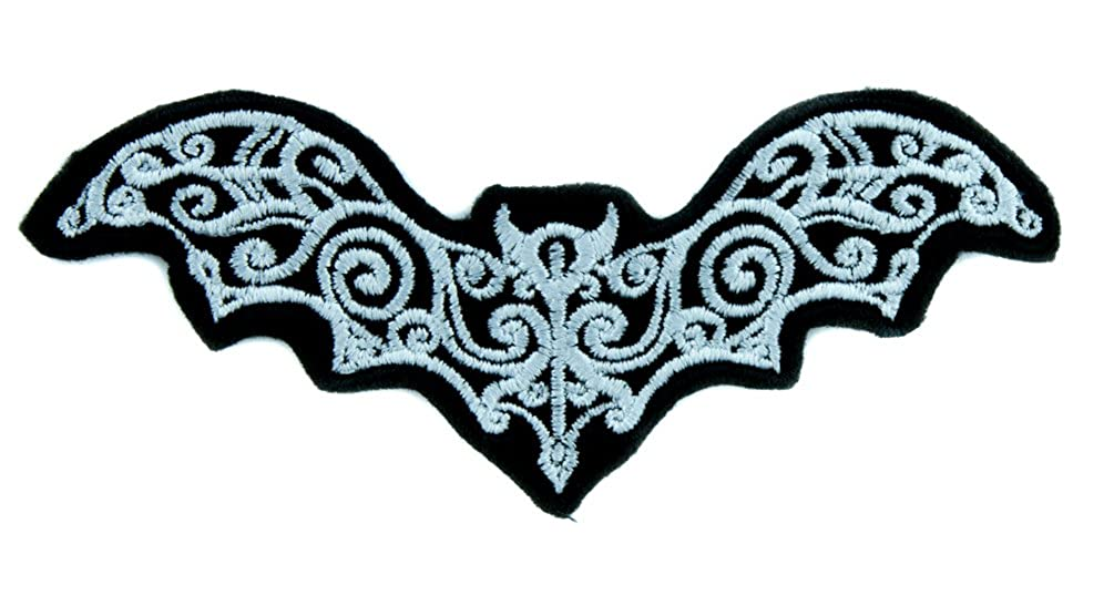Elegant Vampire Bat Patch Iron on Applique Gothic Clothing Deathrock