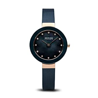 BERING Reloj Analógico para Mujer de Cuarzo con Correa en Acero Inoxidable 11429-367: Amazon.es: Relojes