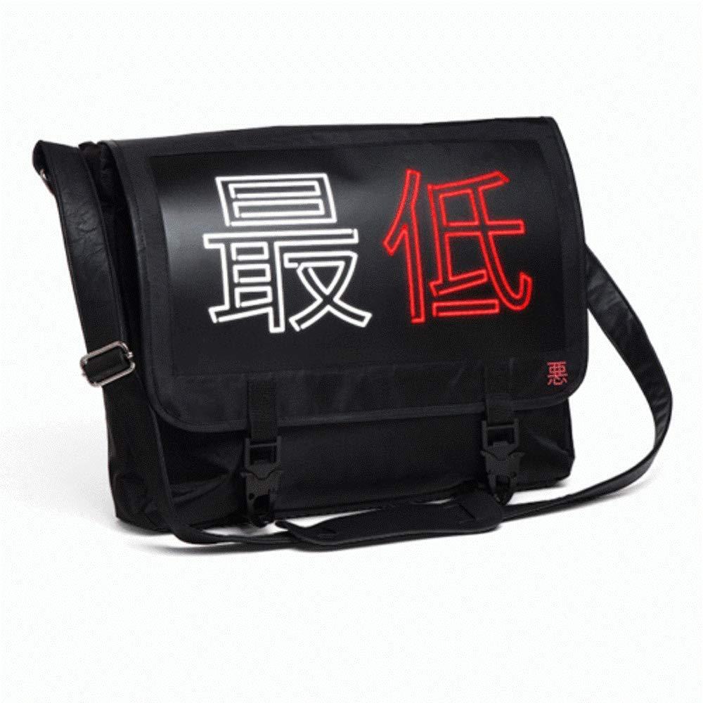 Cyberpunk 17 The Lowest EL Messenger Bag Light Up LED Kanji Lights!