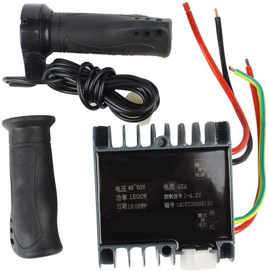Fictory Caja del Controlador Controlador de motor-48-60V 1500W Motor con escobillas for Scooter eléctrico Triciclo