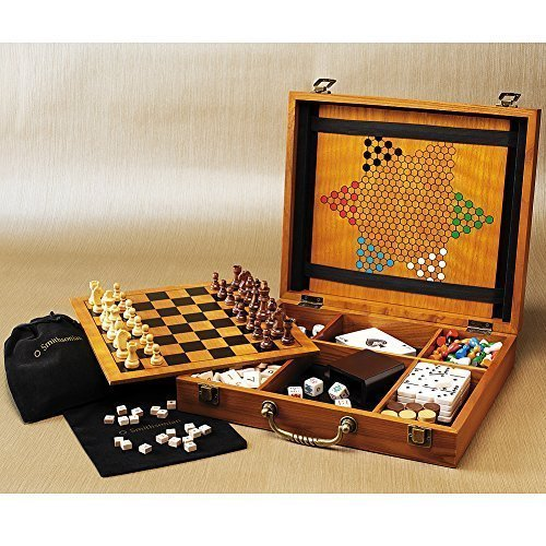 Box Marquetry (Smithsonian Castle Marquetry 8-Game Wooden Game Box)