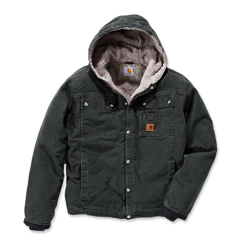 Carhartt Men's Sherpa Lined Sandstone Hooded Multi Pocket Jacket J284,Moss,XX-Large by Carhartt (Image #1)
