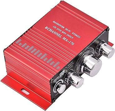 Lazmin Home Mini Audio Verstärker Tragbarer Zweikanal Elektronik