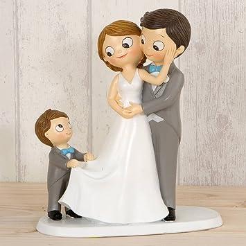 Figur Brautpaar Torte Mit Kind Amazon De Kuche Haushalt