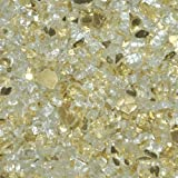 Fireplace Glass- Fire Pit Glass- Gold Reflective ¼ Inch - 25 Lbs