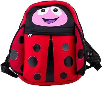 """13"""" Red Ladybug Waterproof Kids Backpack"""