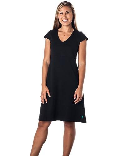 Alki'i V-Neck double fabric bodice with A-line Drape Silvia Dress