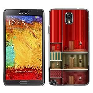 X-ray Impreso colorido protector duro espalda Funda piel de Shell para SAMSUNG Galaxy Note 3 III / N9000 / N9005 - Minimalist Wallpaper Deep Design