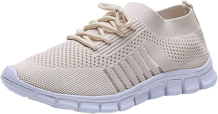 Tefamore Zapatillas de Mujer Zapatillas Transpirables, Zapatillas ...