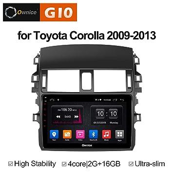 Ownice G10 Quad Core Android 8.1 Reproductor de Radio de Coche GPS DVD Navegación para Toyota