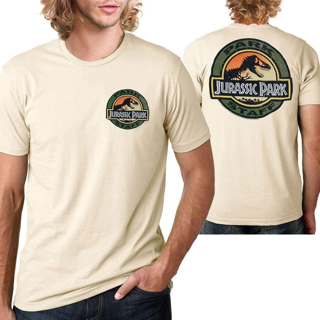 Amazon Com Jurassic Park Movie Park Staff T Shirt Clothing