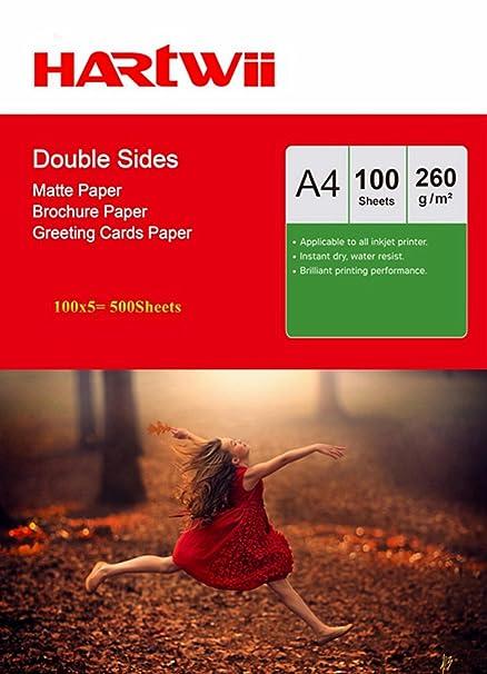 A4 papel fotográfico mate ambos lados mate 260 gsm - papel para ...