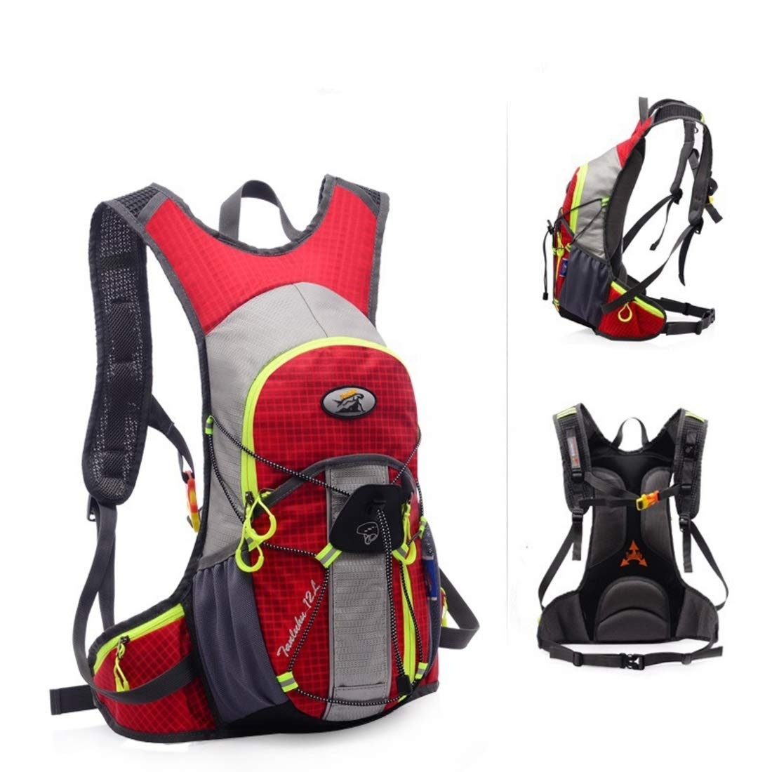 Red Souliyan Waterproof Travel Backpack for Water Bladder Rucksack for Hiking Cycling Climbing Outdoor Sport Backpack (color   blueee)