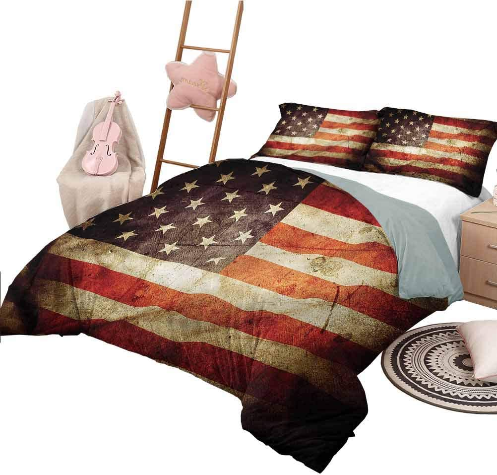Nomorer Bed Set Queen Size American Grunge Quilt Cover Flag Look Ranking TOP13 Manufacturer regenerated product