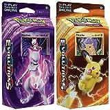 pokemon starter kit - Pokemon Mewtwo & Pikachu XY Evolutions TCG Card Game Decks - 60 cards each