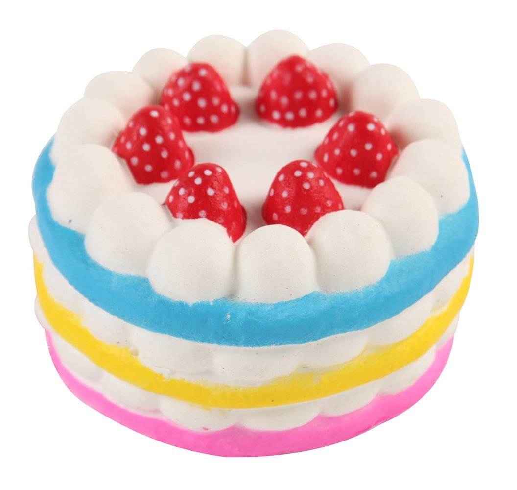 EsPal Jumbo Stress Reliever Strawberry Cake Scented Super Slow Rising Toy Squishy For Kids and Adults Limpo Princess