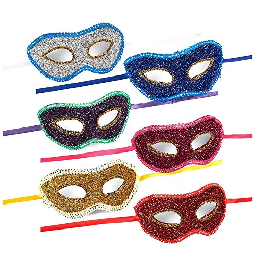 Masquerade Mask – 6-Pack Venetian Party Face Mask for Carnival, Mardi (Venetian Carnival Mardi Gras Mask)