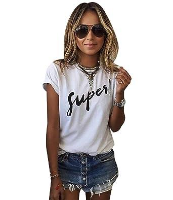 Tee Ample Large Shirt Été Imprimé Top T Haut Femme Isshe QxdCrBWeo