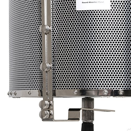 Soporte para pie de micr/ófono Panel de absorci/ón ac/ústica port/átil para grabaci/ón vocal VRI-20 de LyxPro