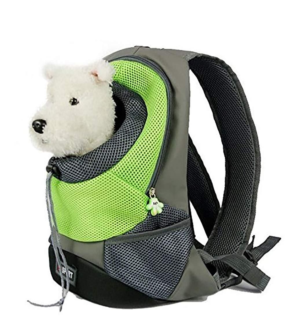 Green Medium Green Medium Comfortable Dog Cat Carrier Backpack,Travel Carrier Bag,with Breathable Head Out Design and Padded Shoulder for Hiking Outdoor Travel