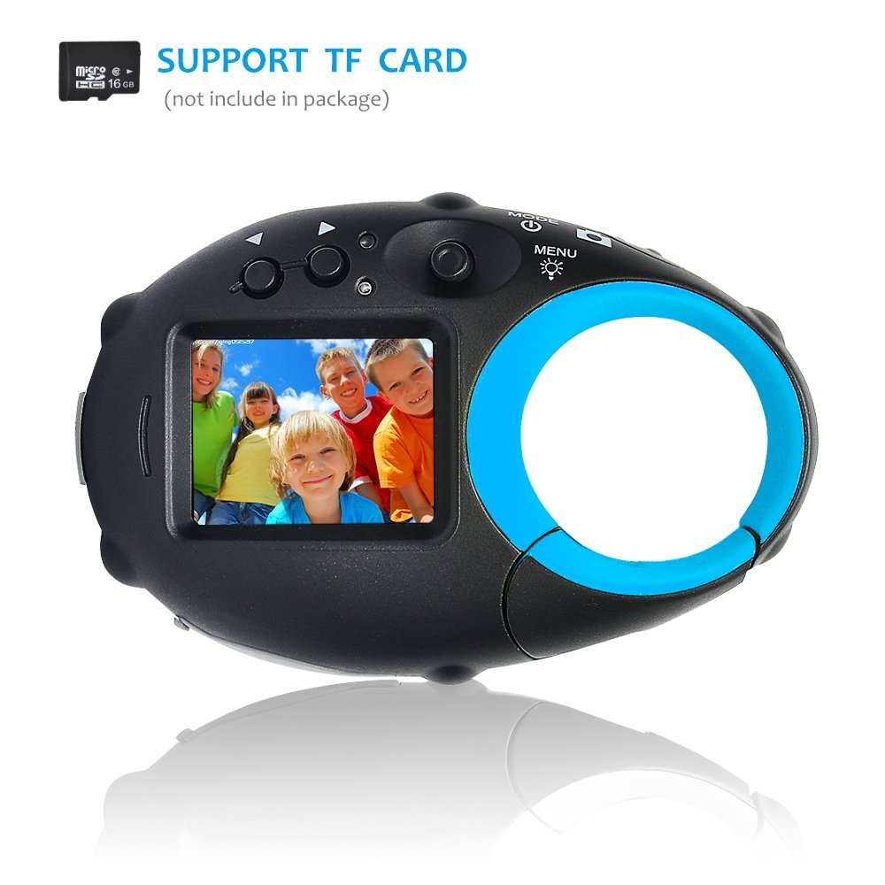 Kids Digital Camera, Funnyletric Mini Digital Video Recorder Camcorder Camera, for Boys Girls Birthday Camera Toy - 12MP HD 1.5'' Colour Screen (Blue) by Funnyletric (Image #5)
