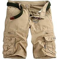 GUOCU Pantalón Corto Deportivo Cargo Shorts Hombres Bermudas Sport Casual