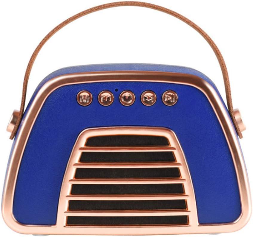 Da-upup Altoparlante Senza fili Bluetooth, cassa armonica Altoparlante portatile Stile retrò Borsa Bass Stereo Senza fili Bluetooth Speaker Sound Box