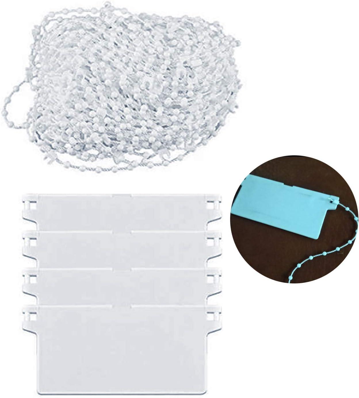 LEEQ 81 Links - Cadena para persianas Verticales con 4 Conectores de Cadena de plástico para láminas de 89 mm
