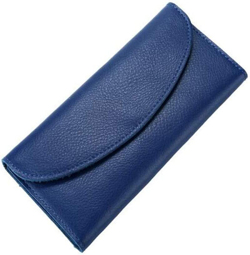 Kalmar RFID Travel Wallet for Women cm Stealth Mode Blocking Leather Wallet Color Color : Blue Simple Ladies Morden Multi-Function Long Wallet Size 19 0.8c 9.5 Black