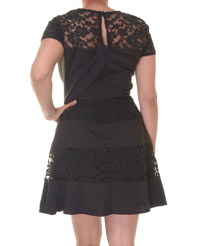 Amazon.com: B. Darlin Juniors\' Illusion Lace Fit-and-Flare Dress ...