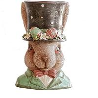Asdfooo Vaso da Fiori in Resina Vaso di Fiori in Vaso Decorazione Domestica Giardino (Coniglio)