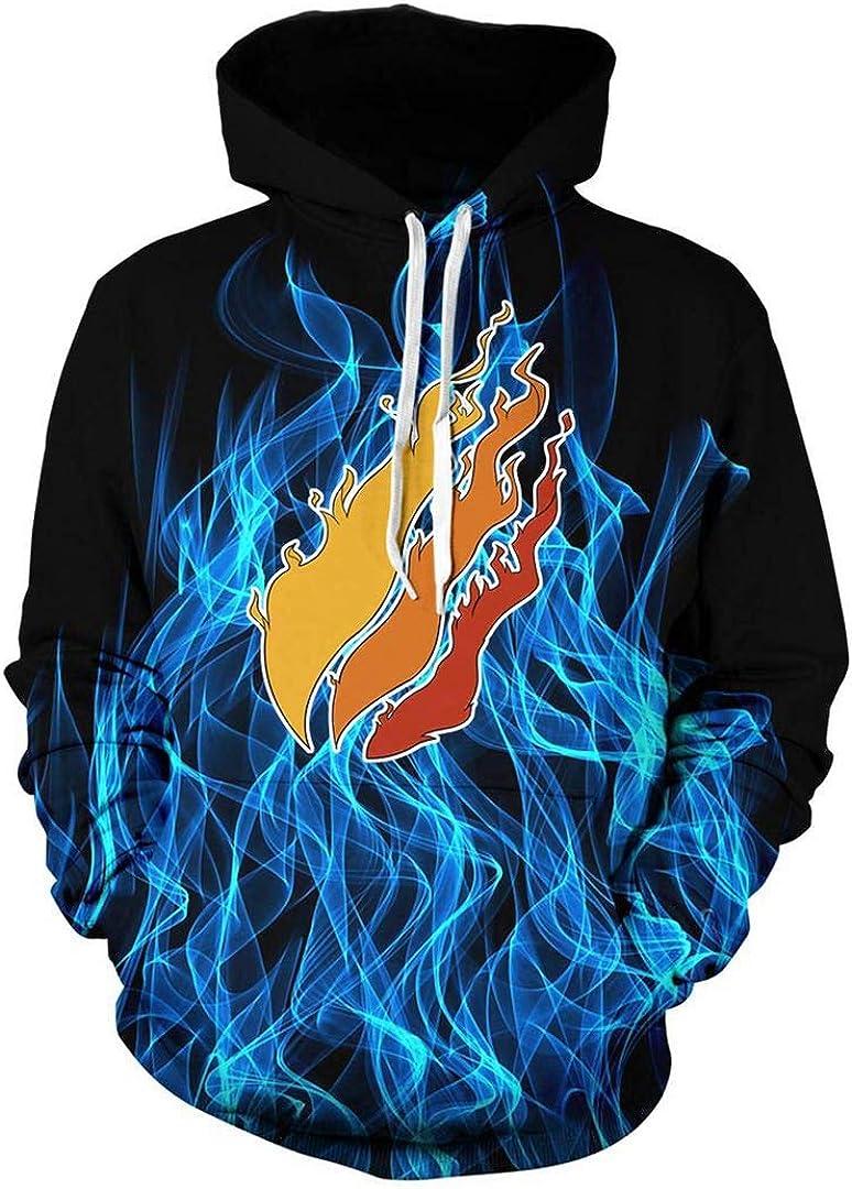 VGBHY Fashion Flame Preston Fire Nation Playz Gamer Long Sleeve Pullover Hoodies Sweatshirt