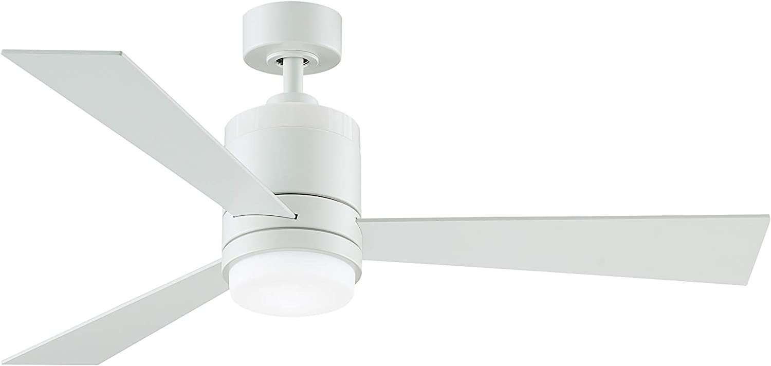 Fanimation Studio Collection LP8577LMW Upright Ceiling Fan with LED Light Kit, 48 Inch, Matte White