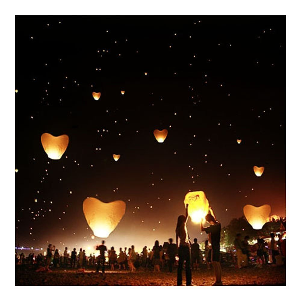 SKY LANTERNS 14 Pack - Assorted Colors: Amazon.ca: Patio, Lawn ... for Flying Lantern Lights  83fiz