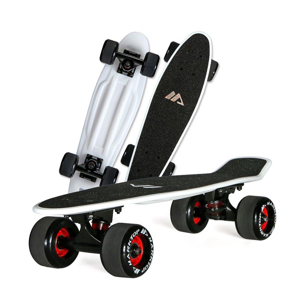 スケートボード用テーブルアダルトオンボードチルドレン4輪(カラー:ホワイト)