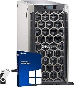 Dell PowerEdge T340 Server Bundle with 16GB USB Flash Drive, Intel Xeon E-2124, 32GB DDR4, 16TB SATA HDDs, RAID, Windows Server 2019 Standard