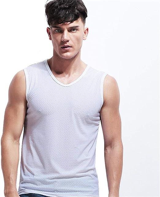 Camiseta sin mangas para hombre Hombres Verano Deportes Aptitud ...