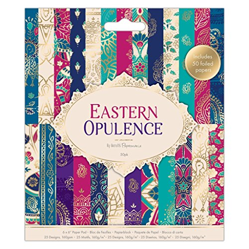 """Docrafts Papermania Craft Premium Paperstock 6 x 6"""" - Eastern Opulence (50pk)"""
