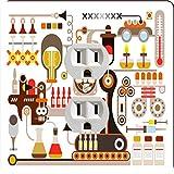 Rikki Knight 8873 Outlet Pharmaceutical Medical Factory Illustration Design Outlet Plate