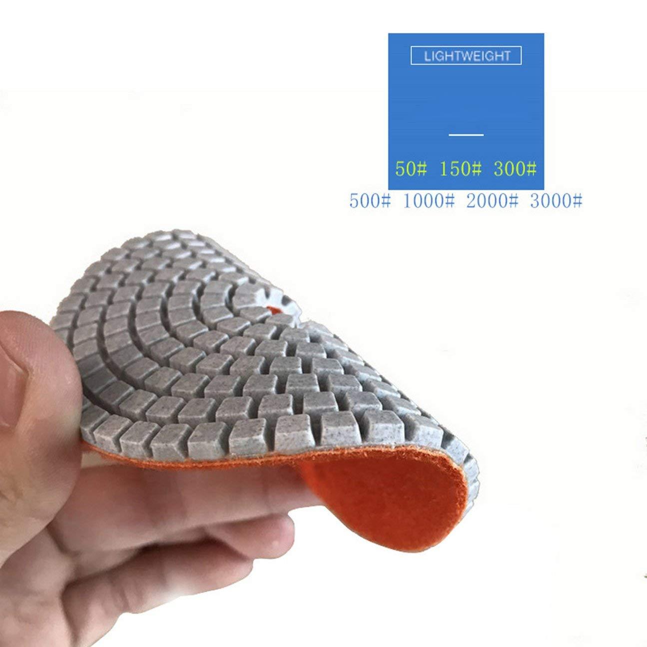 HIPENGYANBAIHU 10 piezas Kit de almohadillas de pulido de diamante 4 pulgadas 100 mm H/úmedo//seco para piedra de granito Hormig/ón M/ármol Pulido Uso Discos de molienda Set