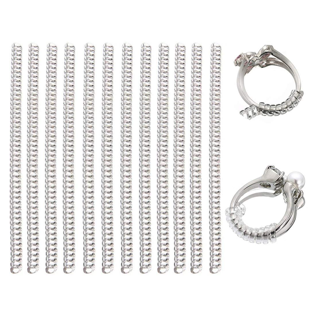 12 Pcs Ring Size Adjuster Guard Reducer Resizing Tools Spiral Based Mayitr 004
